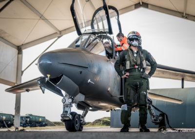 Hangars pour les Rafales et bâtiment opérationnel des escadrons